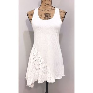 Liefnotes by Anthropologie White Assymetrical Top